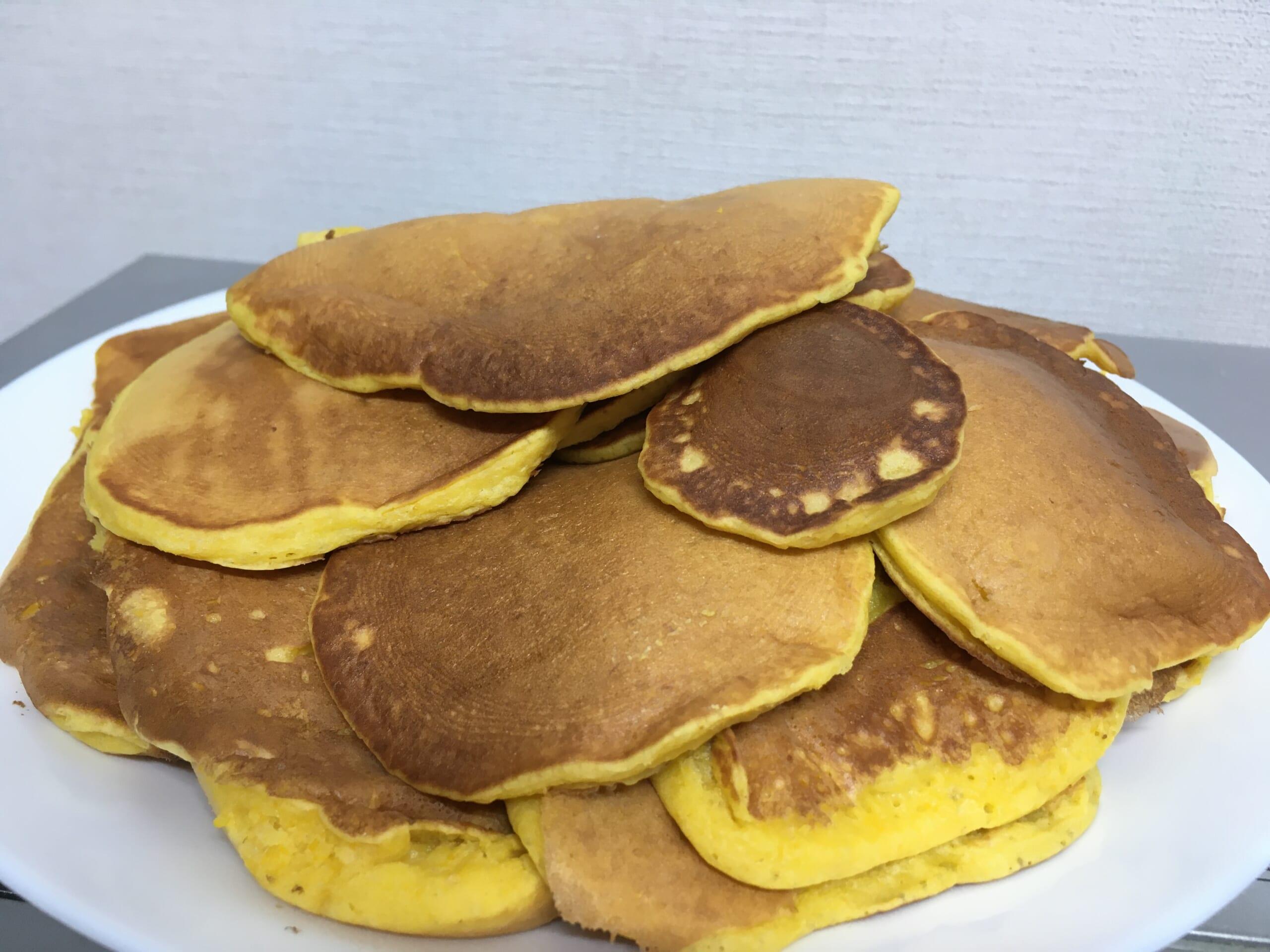 幼児食 米粉のパンケーキ 米粉の蒸しパン