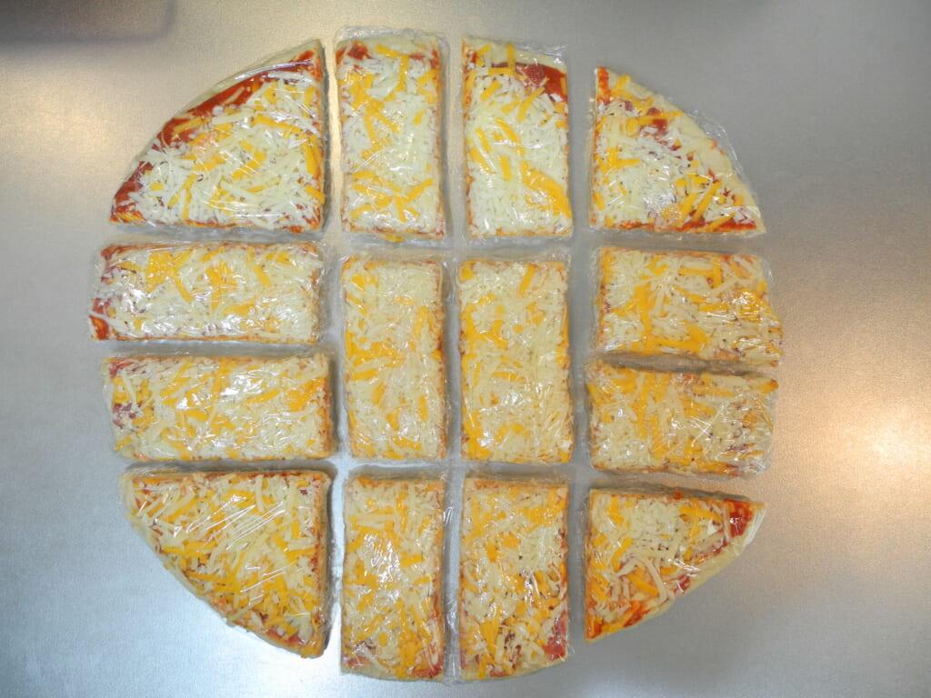 ラップしたピザ