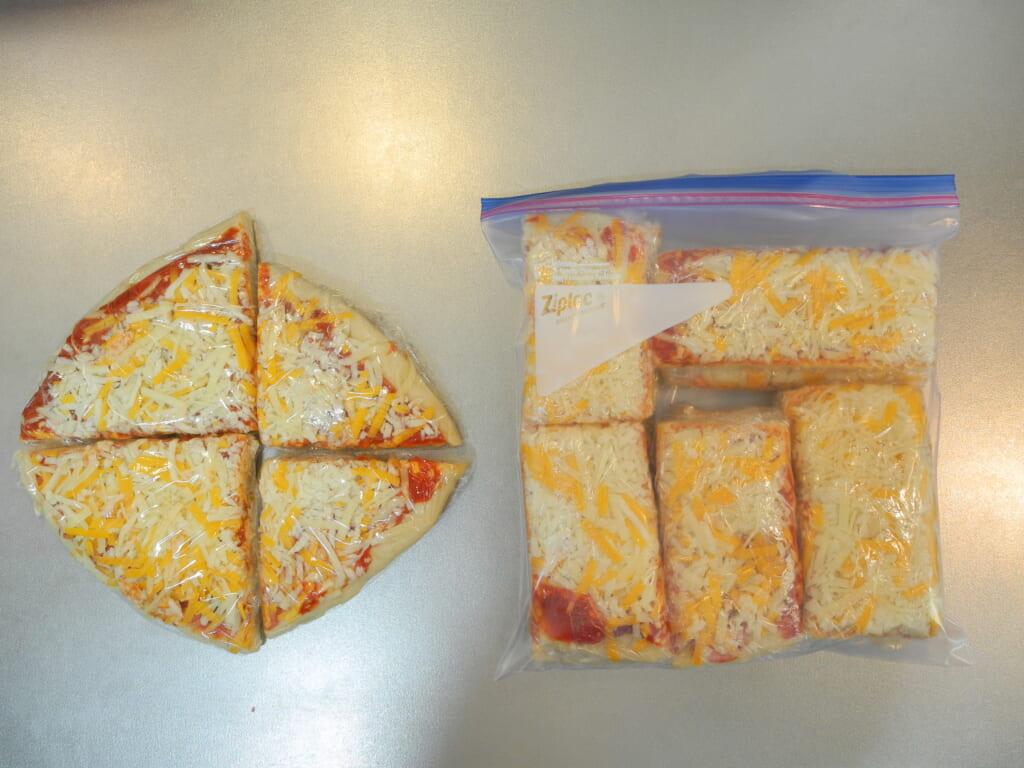 パックしたピザ