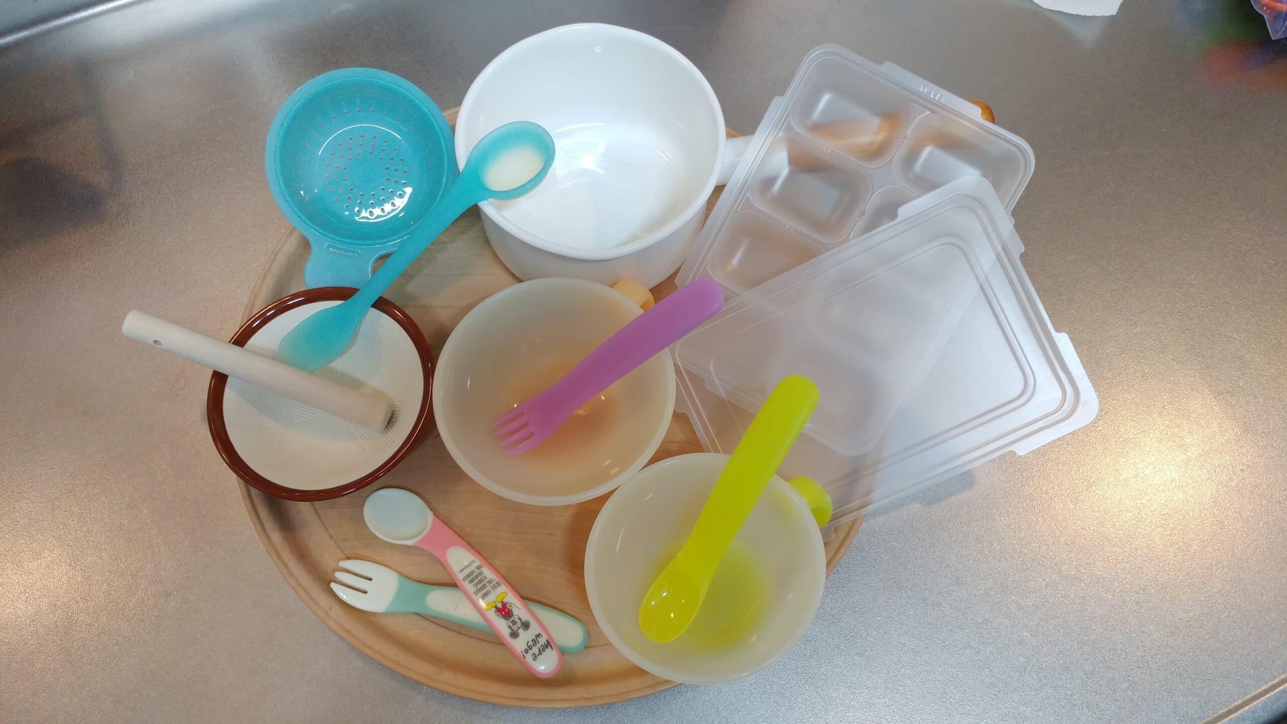 手作り手抜き離乳食の道具