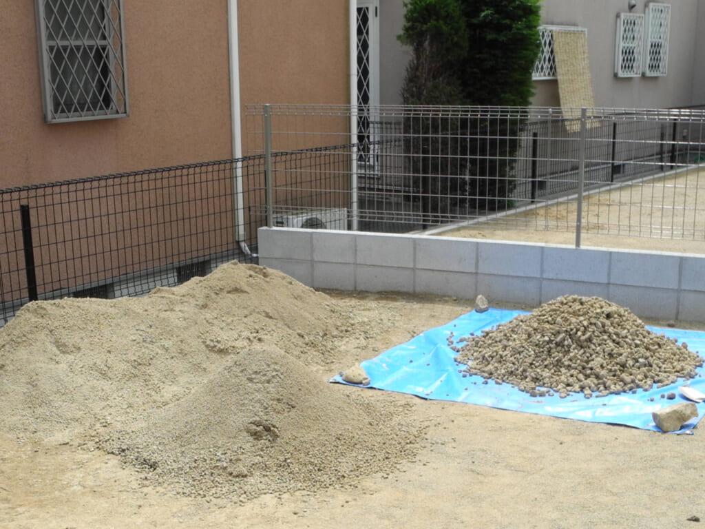 土砂の仕分け