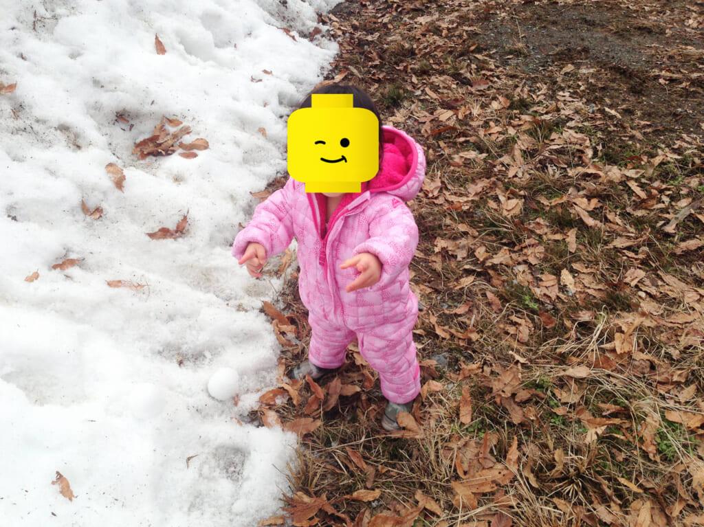マキノ高原で雪遊び